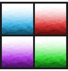 Set of Abstract Gradient Geometric Bright Backgrou vector image