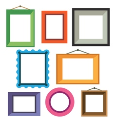 set of different colorful photo frames vector image