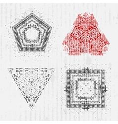 Set of grunge design elements vector image