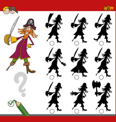shadow activity with pirate vector image