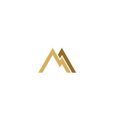 shape line triangle mountain abstract logo vector image