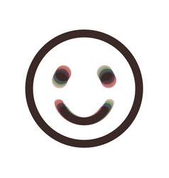 Smile icon colorful icon shaked with vector