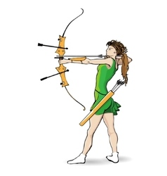 Sports archery vector image