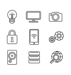 technology icon vector image
