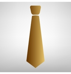 Tie sign Flat style icon vector