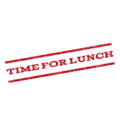 Time For Lunch Watermark Stamp vector image