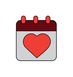 valentines day calebration calendar romantic date vector image