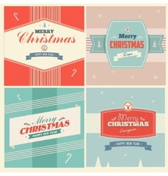 Vintage Christmas Elements Background vector image