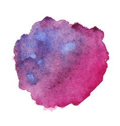 Watercolor purple spot vector