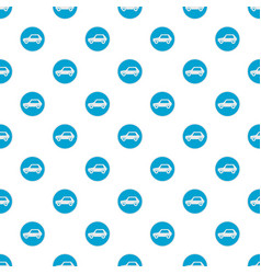 white car pattern seamless vector image