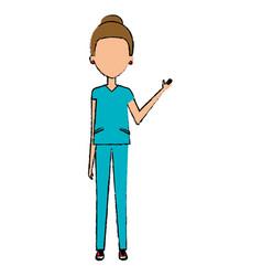 Woman surgeon avatar character vector