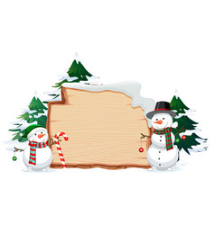 wooden banner with christmas these vector image