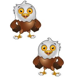 Bald Eagle Character 4 vector image