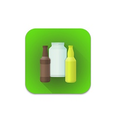 glass recycle waste icon vector image vector image
