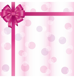Greeting or invitation card with ribbon and bow vector image vector image