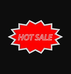 hot sale vintage signboard on a dark background vector image vector image