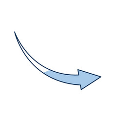 outlined arrow direction web symbol reload icon vector image