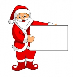 santa claus with blank paper vector image vector image