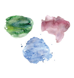 watercolor spots set pastel colors vector image vector image