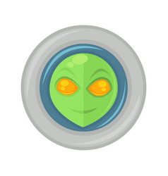 alien face in space suit vector image
