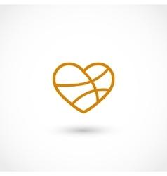 Basketball heart vector image vector image