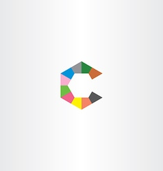 c letter hexagon logo icon vector image