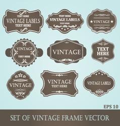 Frames label vintage vector image vector image