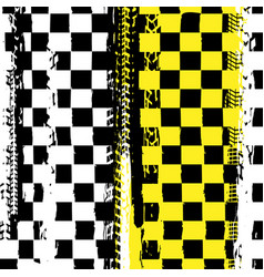 grunge checkered racing background vector image