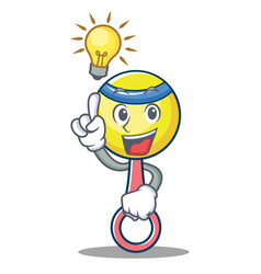have an idea rattle toy mascot cartoon vector image