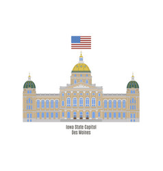 iowa state capitol vector image vector image