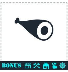 Meat icon flat vector