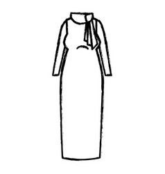 woman dress casual icon vector image vector image