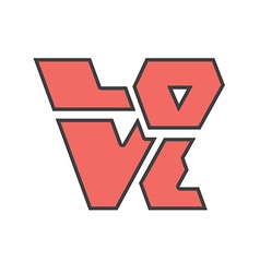 word love sharp vector image