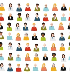crowd of color flat people seamless pattern vector image