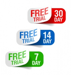 free trial signs vector image