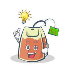 Have an idea tea bag character cartoon art vector