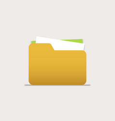 icon folders with documents for computer mobile vector image
