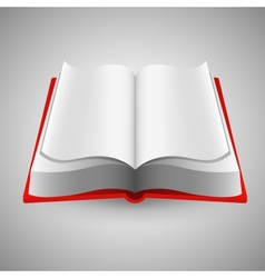 Open book on gray background vector image