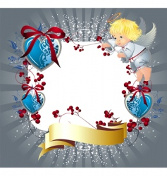 valentines day elements vector image vector image