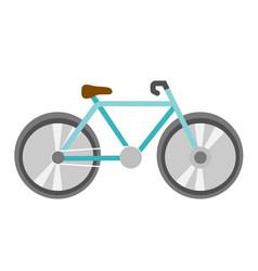 blue bicycle cartoon vector image