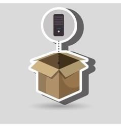 box control remote tv vector image vector image