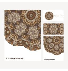 Corporate identity business set design vector image