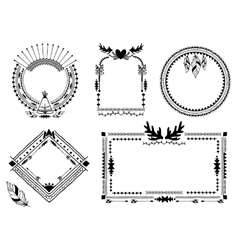 Hand drawn tribal frames vector image