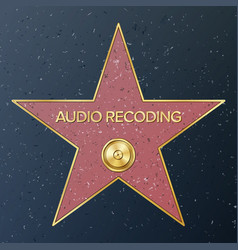 hollywood walk of fame star vector image