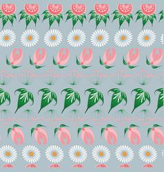 Slavic seamless pattern of fairy tale flowers in vector