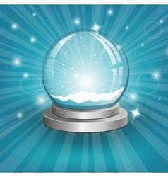Snow globe on background vector image