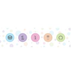 5 rhythm icons vector