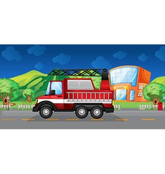 A red towing truck vector image