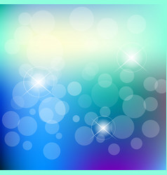 abstract blue bokeh background design vector image