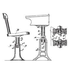 adjustable support for school desks or modern vector image
